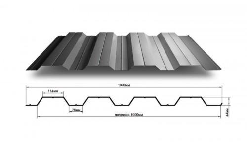 Профнастил Н60 0.5 мм с полимерным покрытием