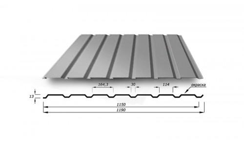 Профнастил С15 0.4 мм с полимерным покрытием
