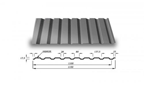 Профнастил С20 0.85 мм с полимерным покрытием